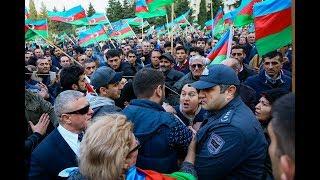 Bakida mitinq: Polisi fitə basırlar. Əli Kərimli cavab verir