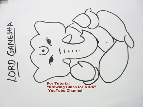 How to draw simple lord ganesha ganpati step by step tutorial for kids