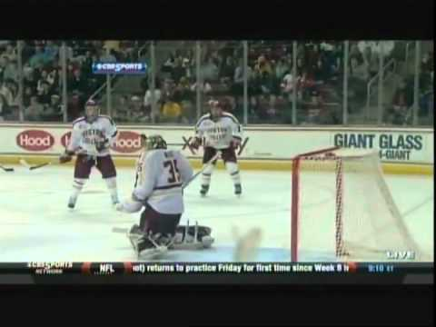 BOSTON UNIVERSITY UPENDS BOSTON COLLEGE, 5-3