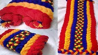 Woollen Cutting flower sitting mat making.| असोन डिजाइन ৷ Make Table mat/door mat.