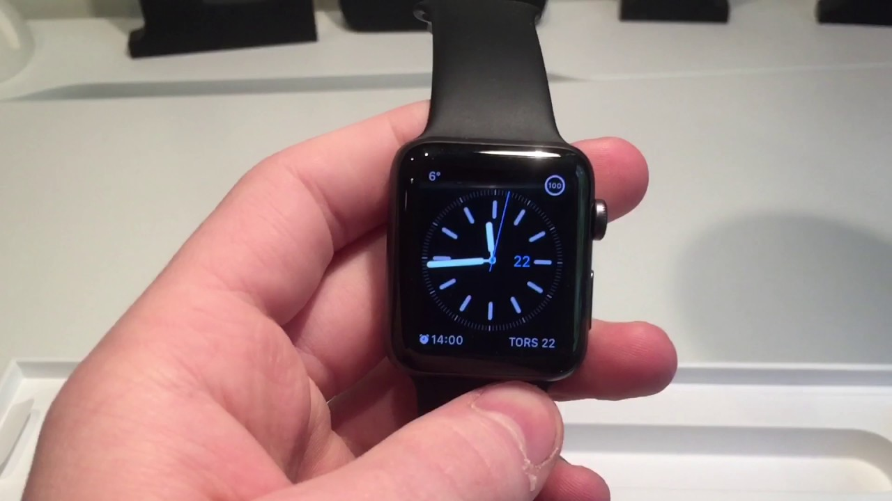 c16ba4468e36 Unboxing Apple Watch Series 2 Space Gray Aluminum 42 mm - YouTube