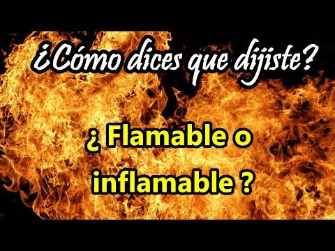 ¿Cuál es la diferencia entre FLAMABLE e INFLAMABLE? ¿Por qué no se usa el prefijo IN de negación?