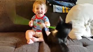 TOP 5 BEST FUNNY Funny Baby Playing with Animals - Lovers Baby Video