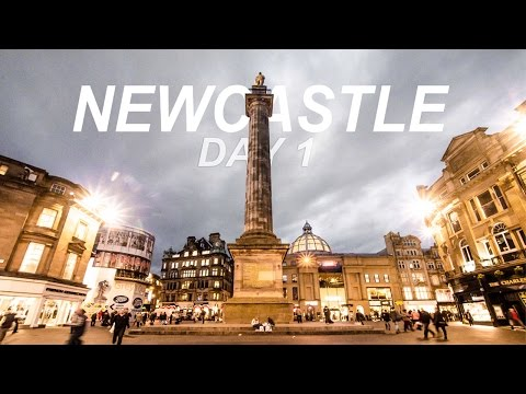 Newcastle Tour 1/2 - Departure, Monuments, City Centre || IrwanCorner