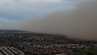 video: Watch:Drone footage captures wall of dust over Arizona city