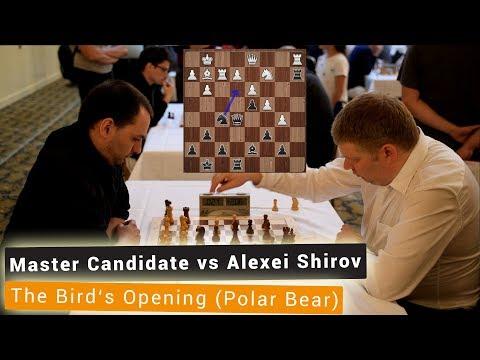 Master Candidate vs Alexei Shirov | Bird's Opening | Emanuel Lasker Memorial Blitz Chess 2018