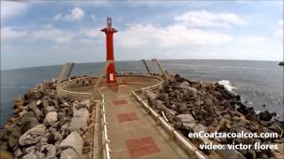 GRABAN ESPECTACULAR VIDEO DEL FARO DE LAS ESCOLLERAS EN COATZACOALCOS