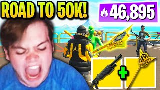 Mongraal FLEXES *RAREST* Pickaxe on Road to 50,000 Arena Points!