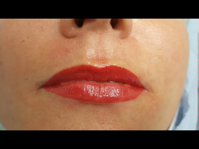 Lip Blush Cosmetic Tattoo PMU by El Truchan @ Perfect Definition
