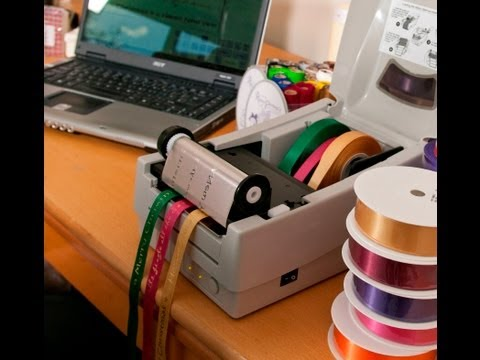 Ribbon printing machine - Easily print multiple ribbons at once