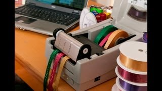 Ribbon printing machine - Easily print multiple ribbons at once(In this video, Jo walks us through printing multiple ribbons at once ( a great time saver! ) . Our specialized printer, the ribbon writer, makes printing multiple ..., 2012-11-07T19:35:22.000Z)