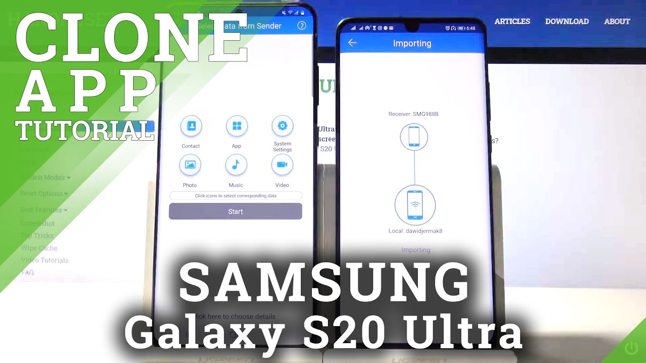 How to Migrate from Huawei phone to Samsung Galaxy S20 Ultra  Clone apps photos music