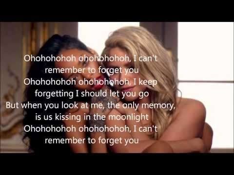 Shakira & Rihanna - Can't Remember to  Forget You (lyrics)