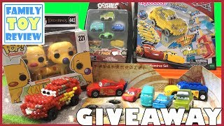 New Disney Cars 3 Toys GIVEAWAY 🔴 Live Toy Unboxing Ooshies Aquabeads Lightning McQueen Transformer