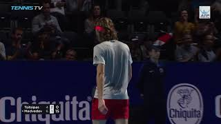 Highlights: Medvedev Battles Past Tsitsipas In Basel 2018