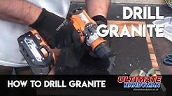 How to drill granite