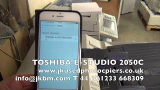 Toshiba E-Studio 2050C Air Print, how to use Air print, cheap colour photocopiers mfd.(This video is about Toshiba E-Studio 2050C., 2015-12-08T13:51:14.000Z)