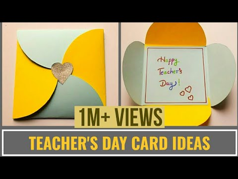 Easy Teacher's Day Card Making Idea | DIY Teachers Day Cards #Teachersdaycard | DIY Gift Envelope