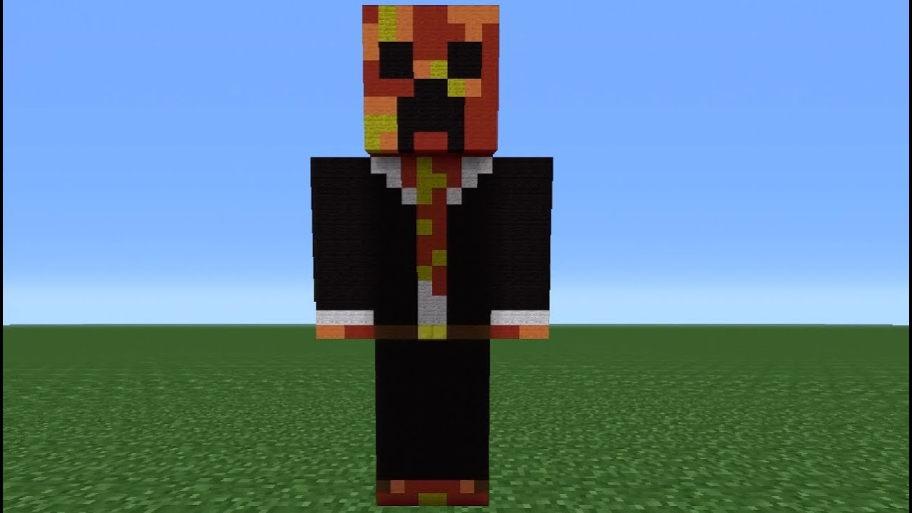 minecraft tutorial  how to make a tbnrfrags statue