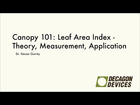Canopy 101: Leaf Area Index - Theory, Measurement, and Application