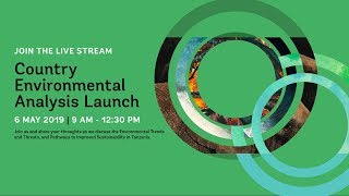 LIVE | Country Environmental Analysis Launch
