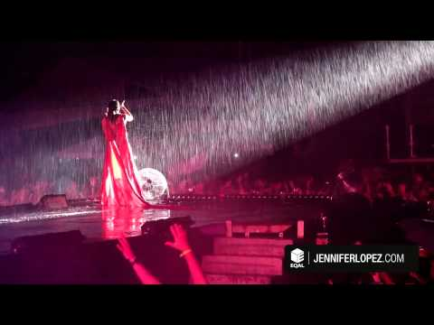Jennifer Lopez Performs in the Rain in Recife, Brazil