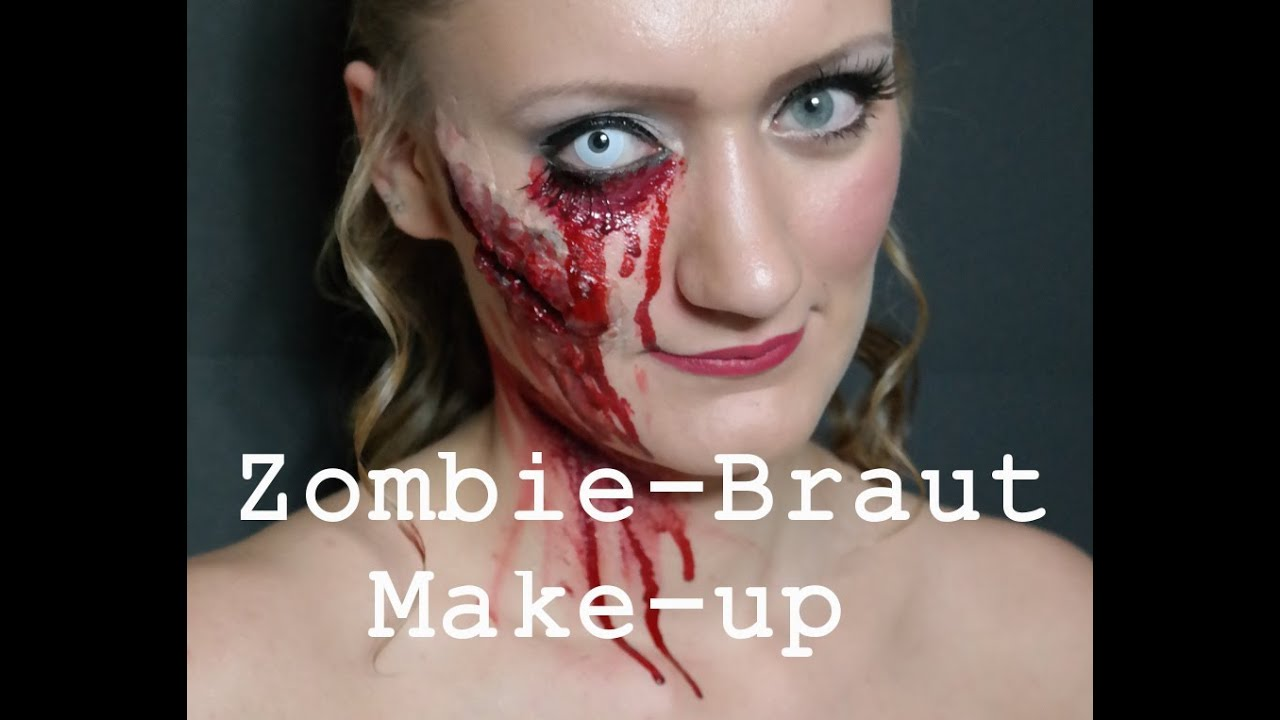 halloween serie zombie braut make up youtube. Black Bedroom Furniture Sets. Home Design Ideas