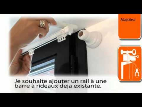 Ridorail ib tringle rideau pour caisson de volet r for Tringle rideau cuisine