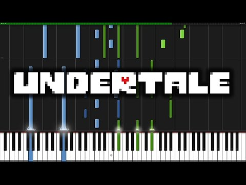 Undertale (Main Theme) - Undertale [Piano Tutorial] (Synthesia)