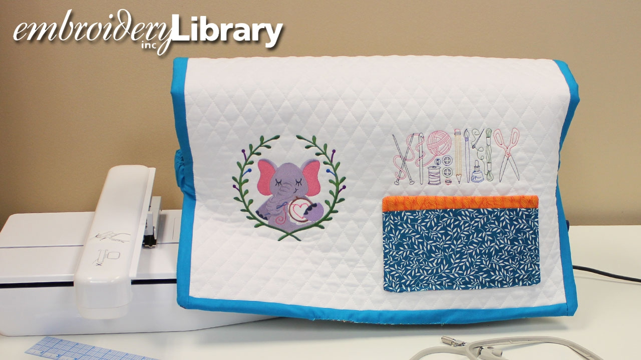 Embroidered Sewing Machine Cover Youtube