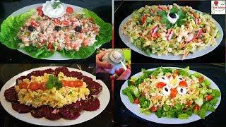 أروع و ألذ 4 سلطات صيفية جديدة مرافقة لأطباق عيد الفطر مع مايونيز بمذاق خطير سهلة و سريعة فالتحضير
