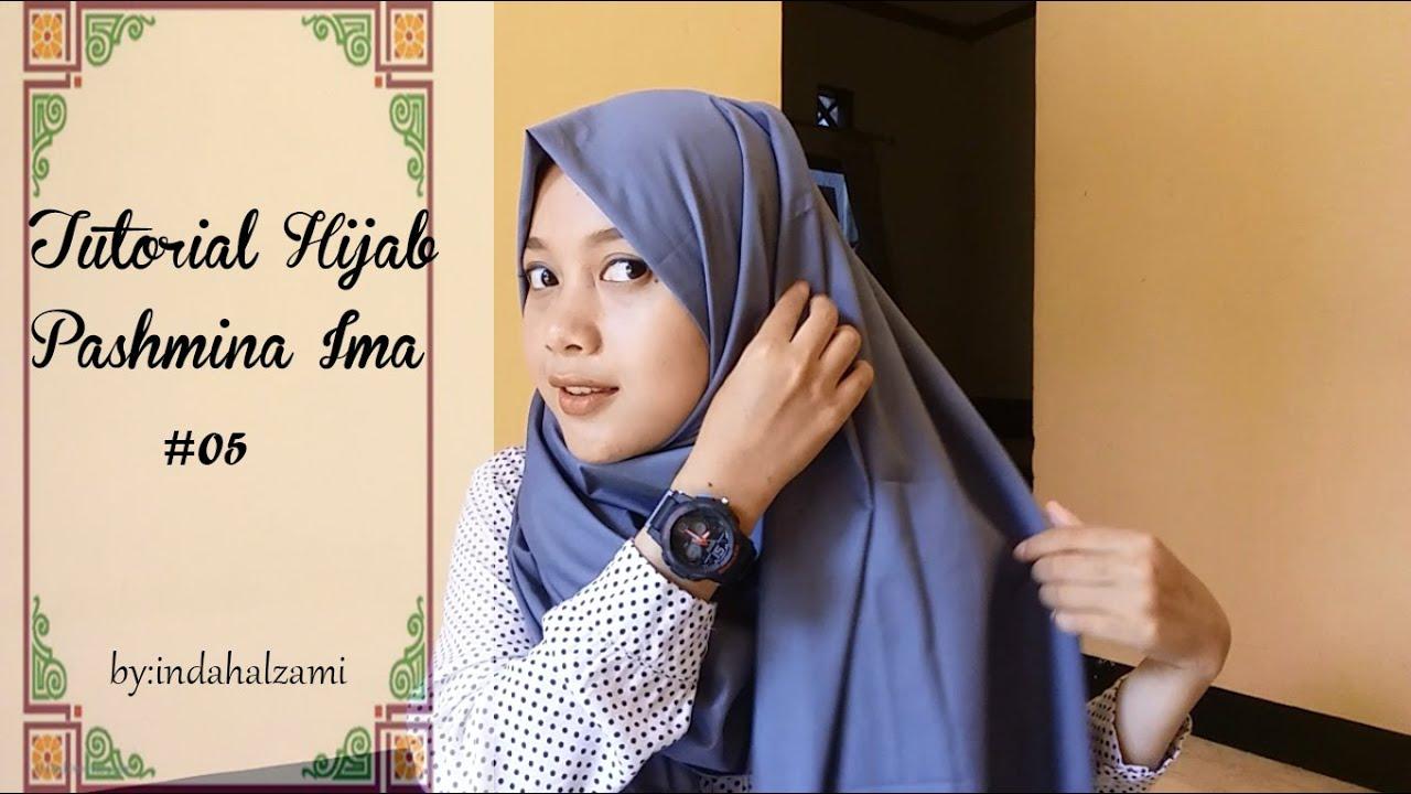 Tutorial Hijab Pashmina Ima 5 Indahalzami YouTube