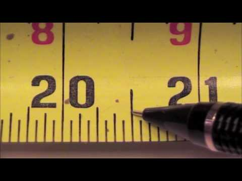 tape measure use markings fractions etc how to read a tape measure youtube. Black Bedroom Furniture Sets. Home Design Ideas