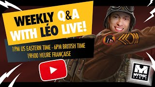 Q&A April 8th with Leo Live!