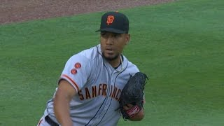 SF@ATL: Suarez solid in first Major League start
