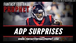 ADP Surprises - Fantasy Football Podcast 2018