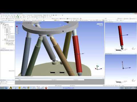 WEBINAR 6: ANSYS Spaceclaim modeling and Workbench Structural FEA of a hexapod mechanism