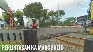 Palang Perlintasan Kereta Api Margorejo PJL 22 Frontage A. Yani Surabaya
