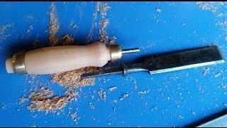 Как сделать ручку для стамески. Часть 1/2. How to make a chisel handle.
