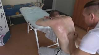 Лечение мышц спины медовым массажем .