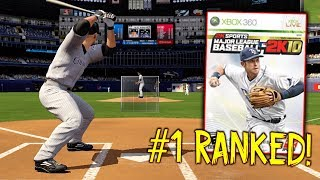 I WAS RANKED #1 IN THE WORLD IN THIS GAME! MLB 2K10 Gameplay
