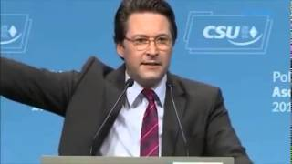 Andreas Scheuer über Bodo Ramelow am politischen Aschermittwoch der CSU 2015