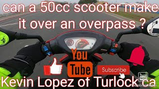 can my 50cc scooter make it ov…