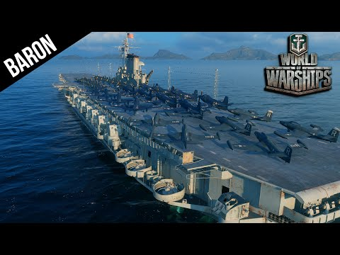 World of Warships Midway Class Carrier - Carrier Jets!
