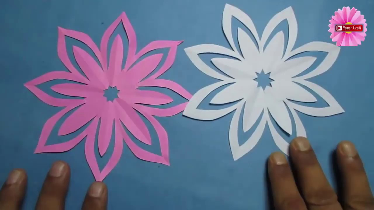 Diy Origami Paper Crafts Make Simple Easy Paper Cutting Flower