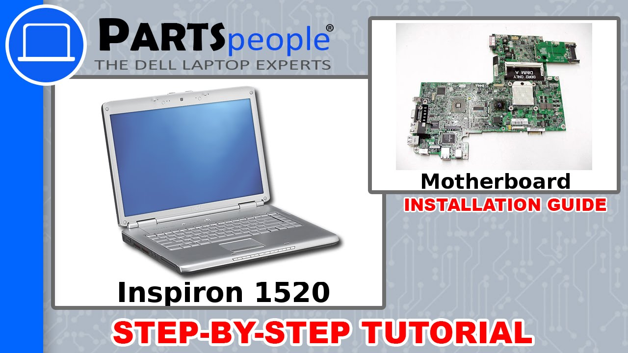 Dell Inspiron 1520 Motherboard Replacement Video Tutorial Youtube