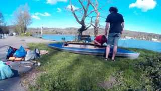 Aufbau eines MTW Kolibri III Faltbootes