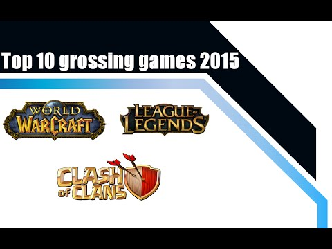 Top 10 grossing games by revenue 2015