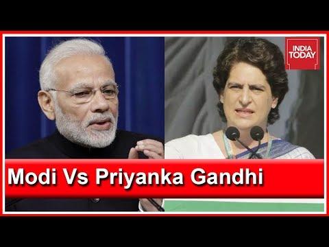 PM Modi Accuses Congress Of Dynasty Politics; Priyanka Gandhi Hits Back