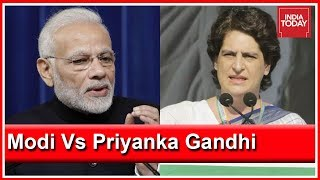 PM Modi Accuses Congress Of Dynasty Politics; Priyanka Gandhi Hits Back
